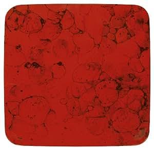 Waechtersbach 小号平方形盘子,2 件套,樱桃色大理石