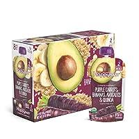 Happy Baby 禧贝 透明装有机婴儿食品2段 紫萝卜&香蕉&牛油果&藜麦泥, 4盎司(113克)袋,共计16袋