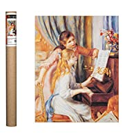 Pierre-Auguste Renoir 创作的《Two Girls at the Piano 》海报印刷品,40.64x50.80 cm