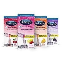 Pedialyte Electrolyte Powder, Variety Pack Flavor Bundle, Electrolyte Drink,0.6 Ounce Powder Packets, 24 Count