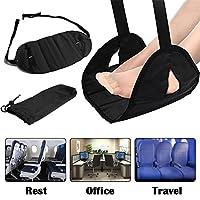 飞机旅行办公室的飞机脚踏板,带*泡沫便携式吊床脚踏板旅行配件便携式携带方便*放松,还有*面罩和耳塞