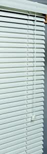 莲花和窗户,Inc 白色 2.54 厘米铝百叶窗 55.88 到 76.2 厘米宽 白色 24-1/2 by 72-Inch AM24572WH