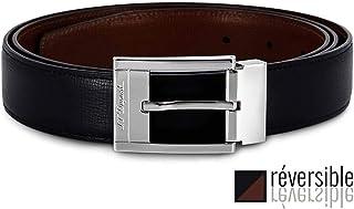 S.T. Dupont D-8152020 商务双面 黑色/棕色纹理腰带