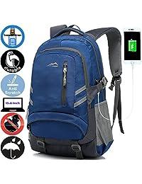 ANTSANG 盖乐世背包书包,学生学院商务旅行,带 USB 充电端口
