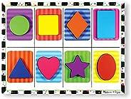 Melissa & Doug 形状块状拼图(学龄前,块状木制组件,全彩色图片