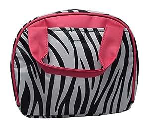 9 英寸小型可重复使用拉链顶层保温午餐袋 Pink/Black Zebra NT92006P