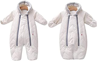 LOSORN ZPY 婴儿男孩女孩冬季羽绒保暖雪衣加厚连帽婴儿车包夹克外衣幼儿连体衣