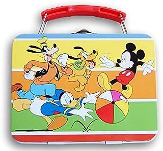 米老鼠锡制金属手提箱带手柄 - 尺寸 13.97 x 10.80 厘米(Mickey,Donald,Pluto和Goofy)
