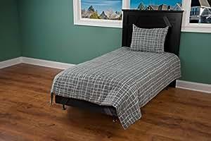 Rizzy Home 灰色/棕色棉被 3 件套 灰色 两个 BT1381 T
