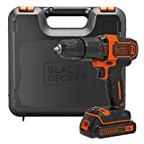 Black+Decker 百得 18 V 锂离子锤钻 黑色/橙色 One size BDCHD18K