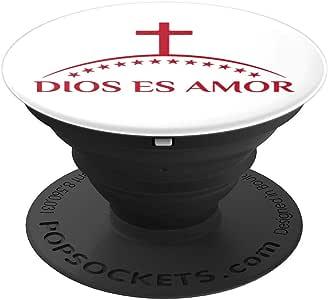 Dios es Amor PopSockets 手机和平板电脑抓握支架260027  黑色