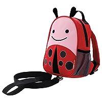 Skip Hop Zoo Little Kid and Toddler Safety Harness Backpack, Livie Ladybug