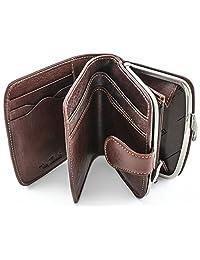 TONY perotti 皮革框架硬币钱包与身份证窗口