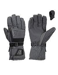 Demon 滑雪和单板触摸屏灰色手套 W / balaclava