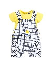 Tuc Tuc 男婴 Peto Popelín+Camiseta Punto Niña Tiny Bear Dungarees