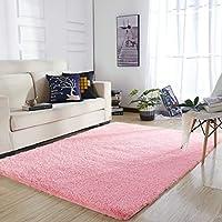 YOH 超软涤纶纤维地毯丝滑柔顺卧室垫毛茸茸长毛地毯适用于客厅卧室儿童房幼儿园家居装饰地毯流行颜色4英尺来自5.3feet
