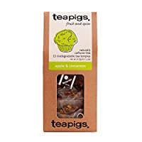 teapigs Apple and Cinnamon Tea Temples (Pack of 3, Total 45)