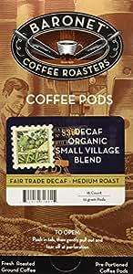 Baronet Coffee Decaf Fair Trade Organic Coffee Pods, 54 Count