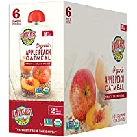 earth's best organic stage 2, apple, peach & oatmeal, 4.2 ounce pouch (12個包裝) by earth's best