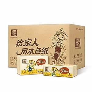 泉林本色 抽取式面巾纸 抽纸 三层100抽/包 16包(整箱销售)(亚马逊自营商品, 由供应商配送)