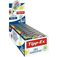 Tipp-Ex 迷你口袋时尚修正滚轮 4 种时尚颜色 - 修正带 6 米 x 5 毫米 - 10 个装 实用屏幕盒