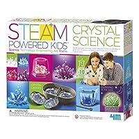 4M 豪华水晶生长组合 Steam科学套装-地质,化学,艺术,STEM玩具礼物,适合儿童,青少年,男孩和女孩