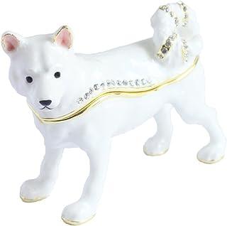 [PIEARTH] PIEARTH 首饰盒 日本犬(白) EX582-1