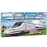 PEQUETREN Pequetren710 高速Renfe Ave S-102 模型火车带底油和Diorama 景观。