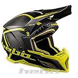 Hebo MX 传奇碳头盔,成人男女通用,柠檬色,XXL 码