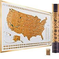 美国国家公园划痕地图 Large 24x17 Scratch Off Usa Map Poster - Original 24  x 17  Inch