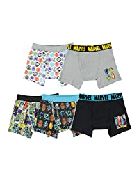 Marvel Little Boys' Avengers 5-Pack Boxer Briefs
