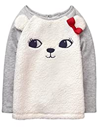 gymboree 幼儿女童 polar Bear Fuzzy 套头