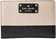 Kate Spade New York Bay Street Tellie 皮革双折钱包  Warm Beige/Black Small
