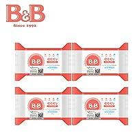 B&B 韩国保宁宝宝洗衣皂婴儿肥皂儿童尿布皂200g*4连包 洋槐香型