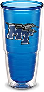 Tervis 1194650 Middle Tennessee State University Emblem Individual Tumbler, 24 oz, Sapphire