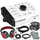 Tc-Helicon Perform-VK 专业处理器,配有 Samson Over-Ear 耳机和各种电缆基本套装