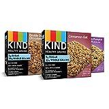 KIND Healthy Grains 格兰诺拉麦片棒,双倍黑巧克力,肉桂燕麦和枫糖南瓜(3 包,各 15 根一包)
