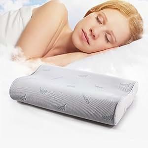 香港SINOMAX 赛诺 慢回弹太空记忆棉枕头单层枕芯保护颈椎缓解颈椎压力护颈枕颈椎枕帮助睡眠枕芯 棕榈树叶款