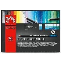 Caran D'ache 博物館水彩鉛筆套裝海洋套裝 20 種顏色套裝 (3510.920)