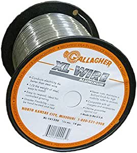 Gallagher AXL141320 1/4-Mile Aluminum Wire Fence, 14-Gauge