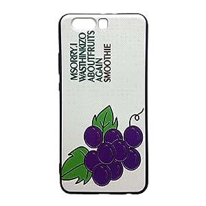 Bluesea Iphone 7/ iPhone 7Plus *可爱水果图案手柄软包印花浮雕 Tpu 带挂绳孔  ブドウ HUAWEI P10 Plus