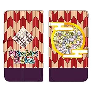 みっちり 猫手机壳翻盖式薄款印花翻盖 みっちり 和服  みっちり着物A 3_ Galaxy S6 edge SCV31