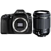 佳能/Canon EOS 80D(18-200mm F/3.5-6.3 Di II VC)单反组合套机附送Aisying单反包+静电贴膜+防丢绳