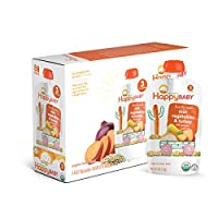 Happy Baby 阶段3婴儿辅食(7个月+) 丰盛的膳食 根菜类和火鸡以及藜麦 4盎司(113g)16袋