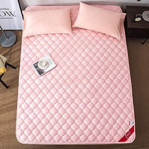 水漾 全棉薄款床垫床褥1.8m床2米双人垫子垫被1.5褥子家用保护垫 玉色 120 * 200cm