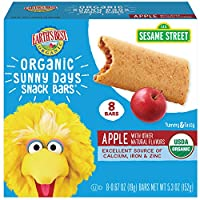 Earth's Best Organic Sunny Day 兒童零食 蘋果夾心餅干 蘋果派 8個(6包)