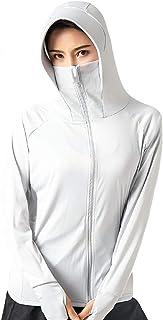 女式瑜伽夹克超薄高尔夫紫外线全拉链连帽*运动跑步夹克