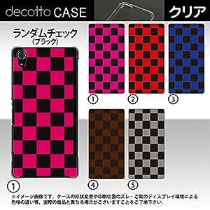 Xperia Z2 SO-03F *智能手机壳 【随机格纹(黑色) 图案】 [透明(透明) 壳]cpc-so-03f-rdcka502c 粉色