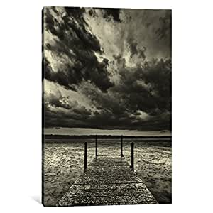 iCanvasART 13917-1PC6-18x12 First Droplets Monochrome Canvas Print by Geoffrey Ansel Agrons, 1.5 x 12 x 18-Inch