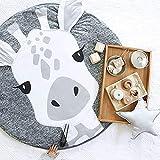 USTIDE 婴儿地毯爬行垫卡通睡垫儿童防滑游戏垫棉地板游戏垫毯子游戏环境地毯儿童房装饰 37.4 x 37.4 长颈鹿